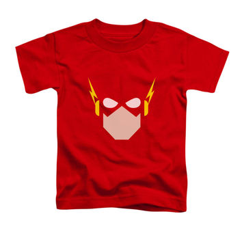 Justice League Of America Boys' Flash Head Childrens T-shirt Red Rockabilia