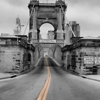 John A Roebling Suspension Bridge by Dan Sproul