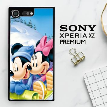 Mickey Mouse And Minnie Mouse X4965 Sony Xperia XZ Premium Case