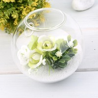 1PC High Borosilicate Glass Hanging Glass Flower Planter Vase Terrarium Container Home Garden Ball Decor