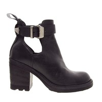 Bronx Heeled Strap Ankle Boots