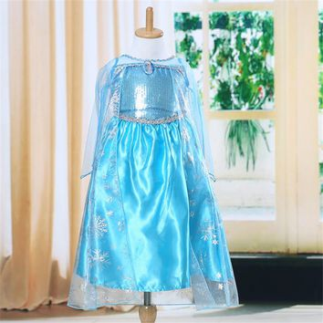 2017 New Girls Dresses Cosplay Dress Fever Costume Princess Dress Party Dresses for Children Clothing