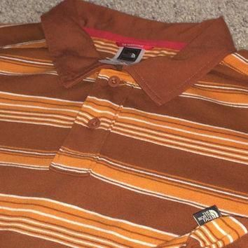 Sale!! Vintage The North Face casual Polo Men's Shirt North Face tops TNF tee Size Lar
