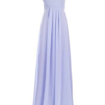 Remedios A-Line Chiffon Bridesmaid Dress Long Prom Evening Gown,#40 Lavender,US14