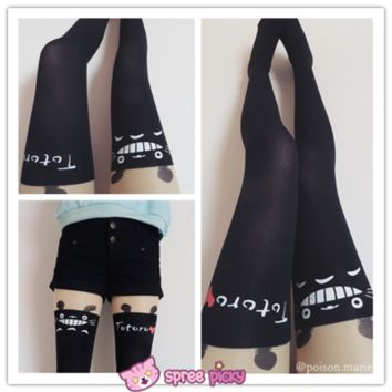 [3 for 2] Fake Over-the-knee stockings Totoro stocking thigh socks pantyhose SP130042 from SpreePicky
