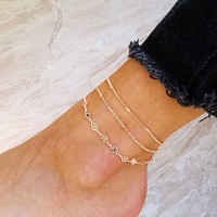 Layered Glam Anklet