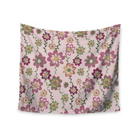 "Nika Martinez ""Romantic Flowers in Pink"" Blush Floral Wall Tapestry"