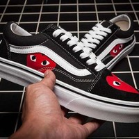 Vans x CDG PLAY Canvas Old Skool Flats Sneakers Sport Shoes