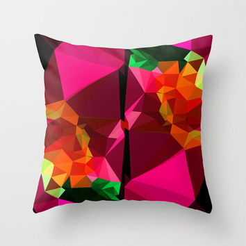 Pink Geometric Throw Pillow Cover, Unique Graphic Pillow Cover, 16x16, 18x18, or 20x20 inch cover