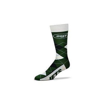 NFL New York Jets Argyle Unisex Crew Cut Socks - One Size Fits Most