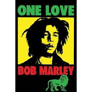 BOB MARLEY POSTER One Love Pop Art RARE HOT NEW 24x36