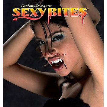 SEXY BITES CUSTOM WOMENS SIZE VAMPIRE FANGS PETITE TEETH NEW