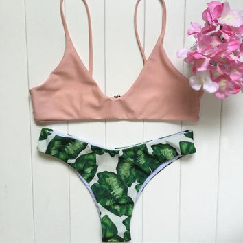 Leaf Print Swimsuit Bikini  B0013566