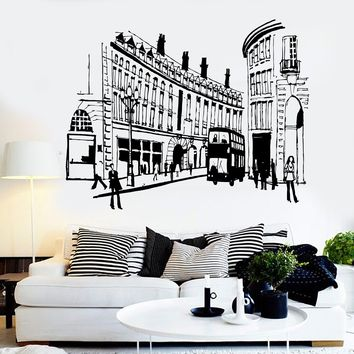 Vinyl Wall Decal England London Street UK English Decor Stickers Mural Unique Gift (ig3654)