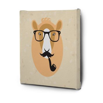 Hipster Animals Pictures Canvas Wall Art Decal Painting Prints Lama