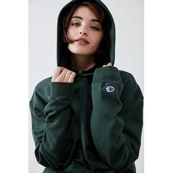 Champion Embroidery Logo Fashion Hooded Sport Top Sweater Sweatshirt Hoodie