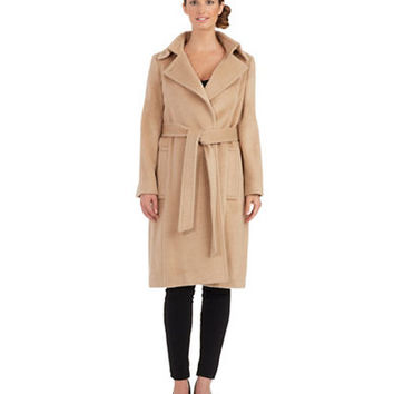 Sofia Cashmere Belted Wrap Coat