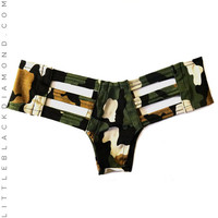 Camouflage Cutout Bottoms