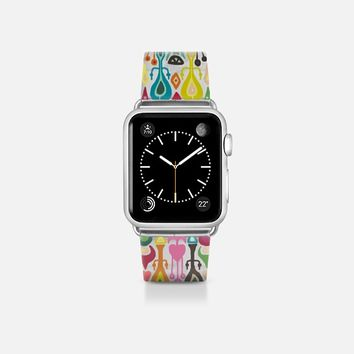 ikat love transparent apple watch band Apple Watch Band (38mm)  by Sharon Turner | Casetify