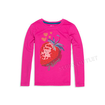 Gap Kids Long Sleeve Shirt Dark Pink