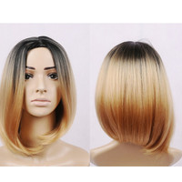 ombre blond None lace wig