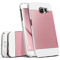 Galaxy S6 Case, OBLIQ [Slim Meta][Metallic Pink] Thin Bumper Fit Armor Scratch Resist Metallic Finish Dual Layered Heavy Duty Hard Protection Hybrid High Quality Case (for Samsung Galaxy S6)
