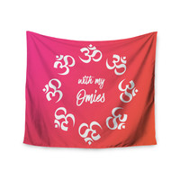 "KESS Original ""With My Omies Pink"" Coral Magenta Wall Tapestry"