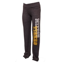 The Mizzou Store - Mizzou Juniors' Tigers Block Print Rollover Black Pants