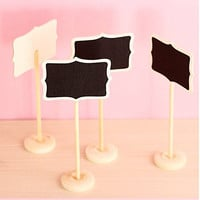 Worldoor® Mini Retangle Chalkboard Blackboard Stand Wedding Lolly Party Table Numbers Place Card Favor (Pack of 12)/ Mini Chalkboard Blackboards On Stick Stand Place Holder Wedding Event Party Decorations