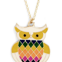 ModCloth Owls Read Owl About It Necklace