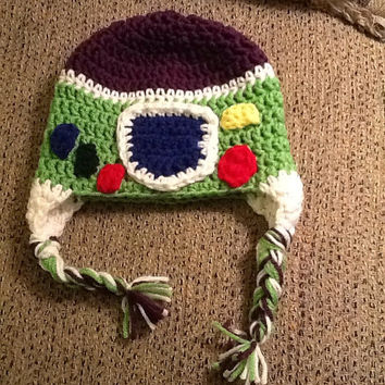 Buzz Lightyear Crochet Beanie - all sizes - made to order