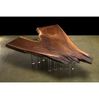 DESIGNLUSH BLACK WALNUT SLAB TABLE