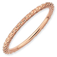 Rose Criss-Cross Stackable Ring 1.5mm