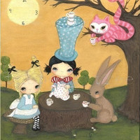 Wonderland Print---Mad Tea Party