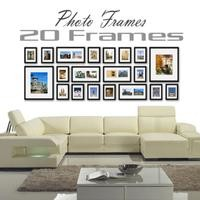 this: 20 pcs Photo Frames Set Wall Black