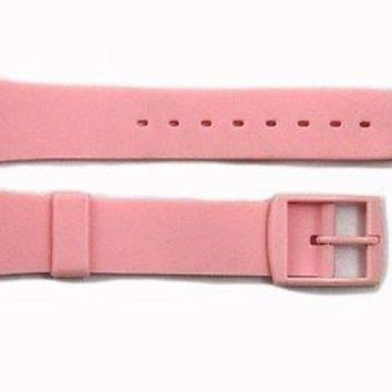 17mm Men's Pink Replacement Watch Band Strap fits SWATCH watches