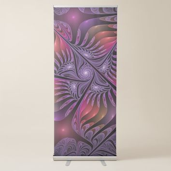 Colorful Fantasy Abstract Modern Purple Fractal Retractable Banner