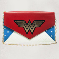 DC Comics Wonder Woman Envelope Wallet with Chain