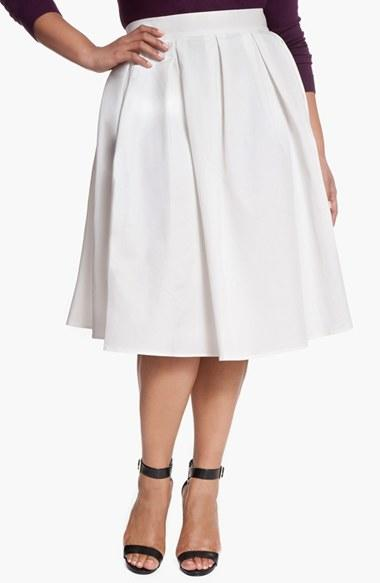 plus size s eloquii midi skirt from nordstrom