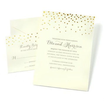 Gartner Studios 50ct. Gold Dot Border Invitation Kit