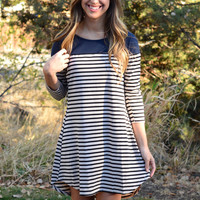 Great Expectations Dress - Navy