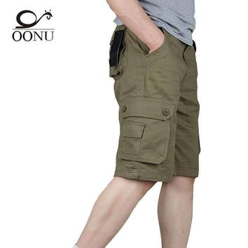 Yolao Summer Men'S Army Cargo Work Casual Bermuda Men Shorts Overall Military Trousers Plus Size 29-46