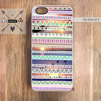 California iPhone Case - Geometric Pattern iPhone 5 Case, Chevron iPhone Case, Tribal iPhone 4 or 4S, Case, Accessories for iPhone