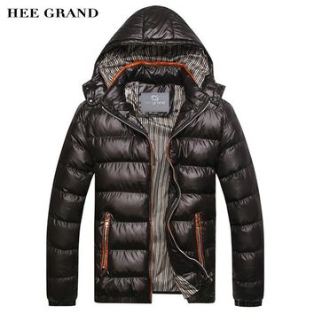 HEE GRAND 2018 New Arrival Men Winter Fashion Casual Parkas Hooded Man Coat Jacket Windproof High Quality Plus Size MWM516