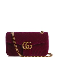 GG Marmont chevron-velvet cross-body bag | Gucci | MATCHESFASHION.COM