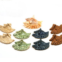 Ceramic Place Card Holders for Dinner Parties or Weddings: Beach Themed Shell Placecard Holders, Unique Wedding Favors