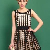 Retro Box Puff Dress S010518