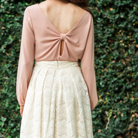 Marie Blush Bow Back Blouse
