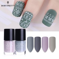 BORN PRETTY Matte Dull Nail Polish 9ml Gery Series Lacquer Varnish Matt Effect Manicure Nail Art Color Polish