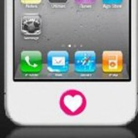 iphone Home Button Personalized Decal Sticker 2 Color